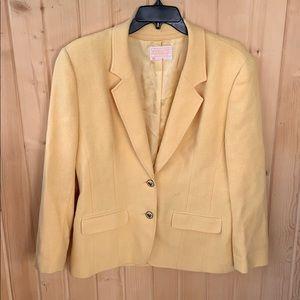 Vintage Pendleton Yellow Wool Blazer Suit Jacket